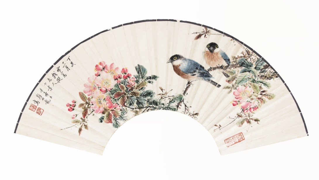 5:Chinese Painting Fan Birds and Flowers