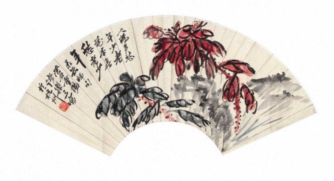 7:Chinese Painting Fan Flowers