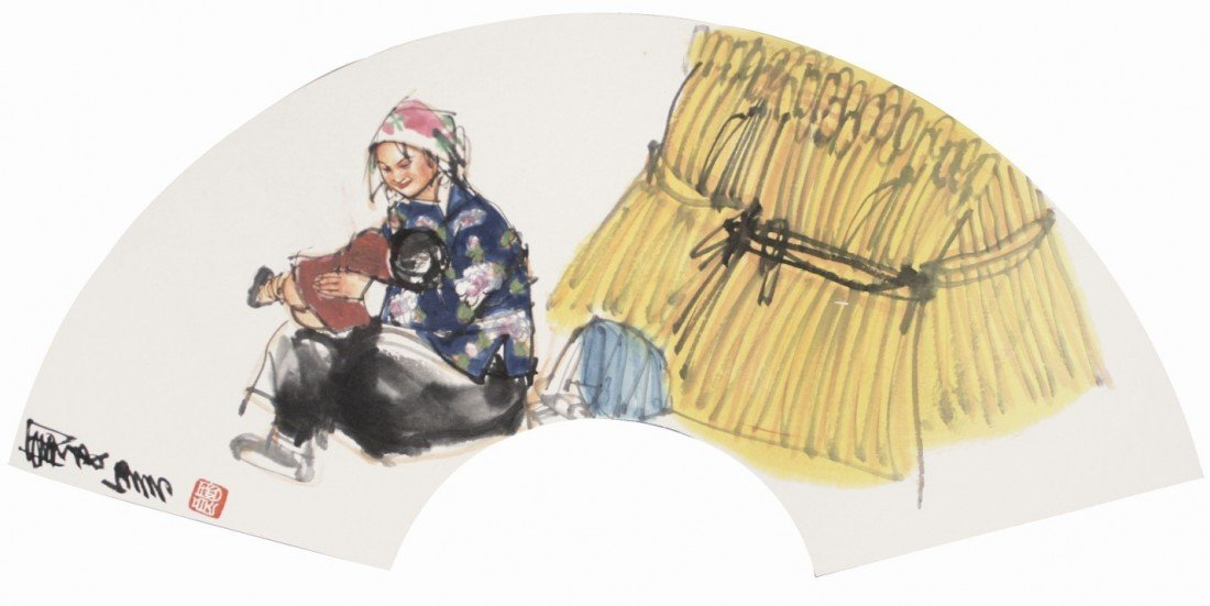 9:Chinese Painting Fan Figures