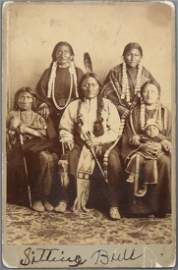 Unique Sitting Bull Signed Photo in ink with his