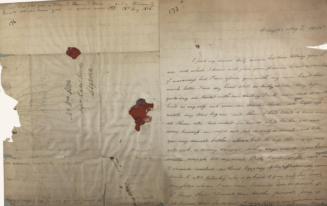 Extremely Rare Manuscript letter- Signed by Saint