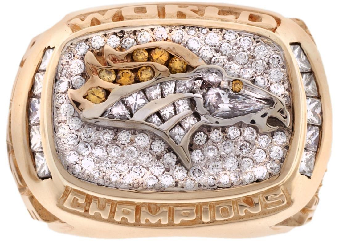 1998 Denver Broncos Super Bowl XXXII Championship Ring