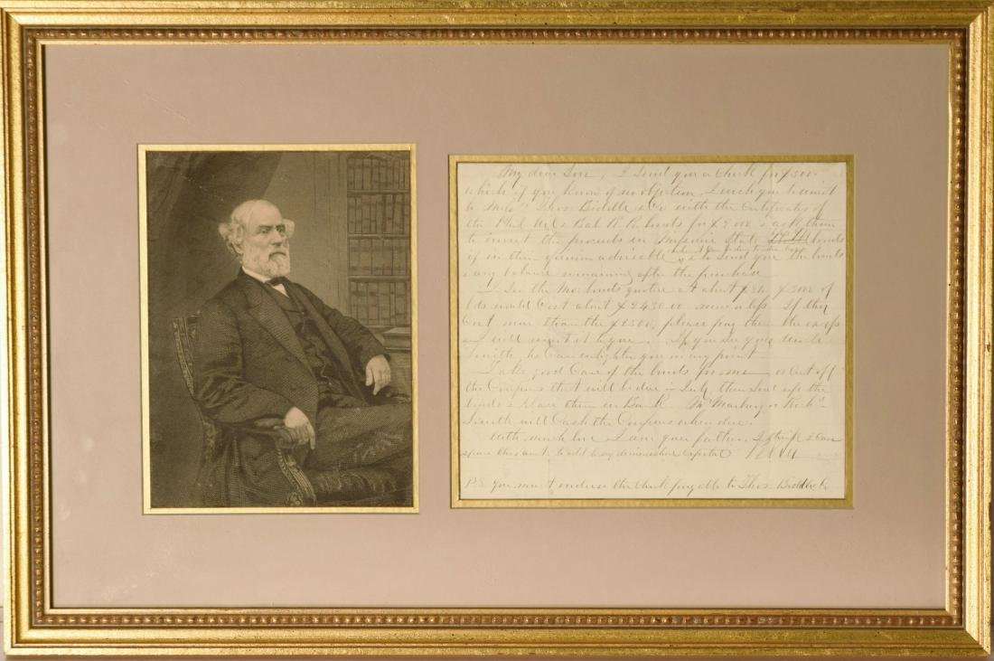 Robert E. Lee ALS to his son 4/17/1860