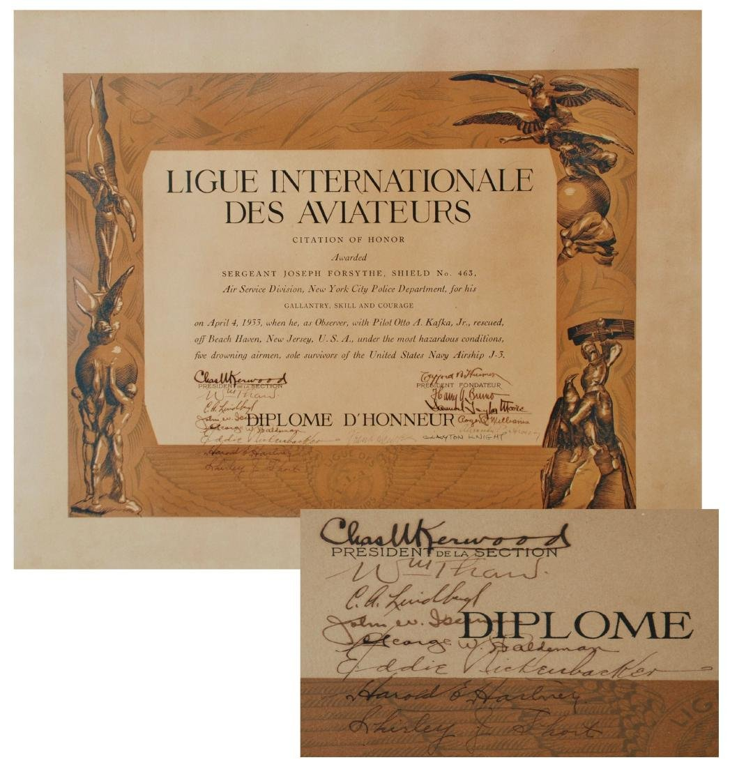 Incredible Certificate for Akron rescue mission; for