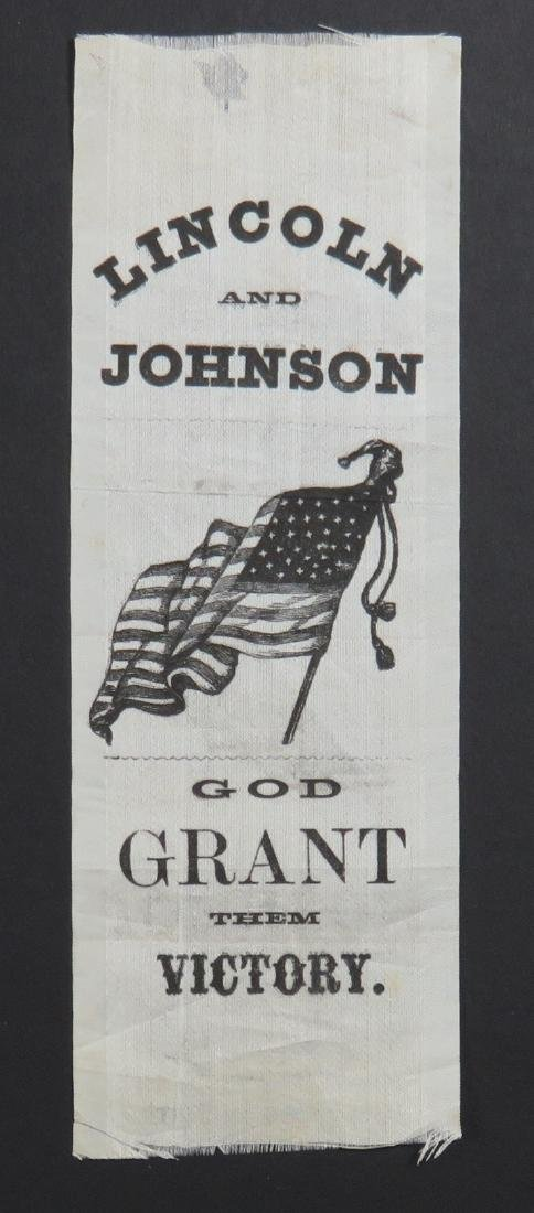 """Abraham Lincoln: Clever Slogan Ribbon with """"Grant"""""""