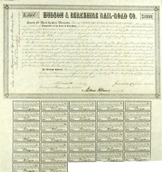 Millard Fillmore Signed Stock