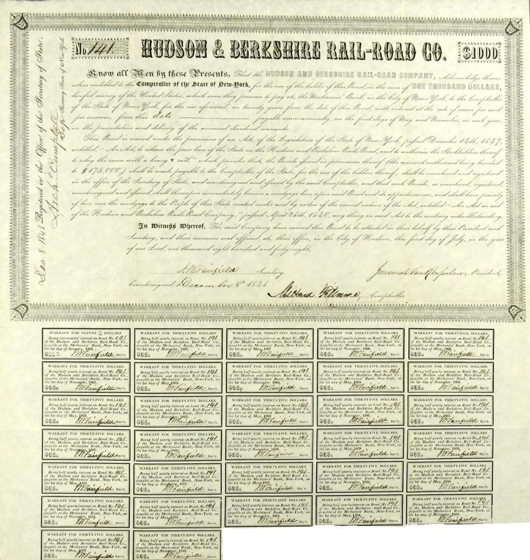 Millard Fillmore Signed Stock - 2