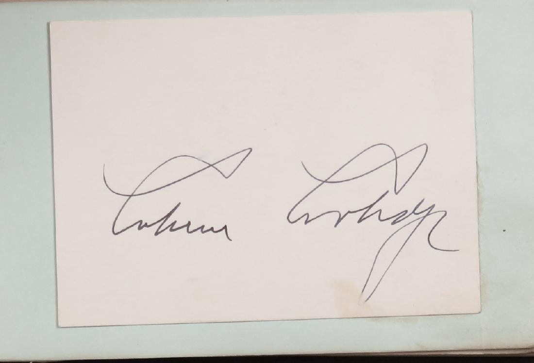 Autograph album with Calvin Coolidge, Hellen Keller,