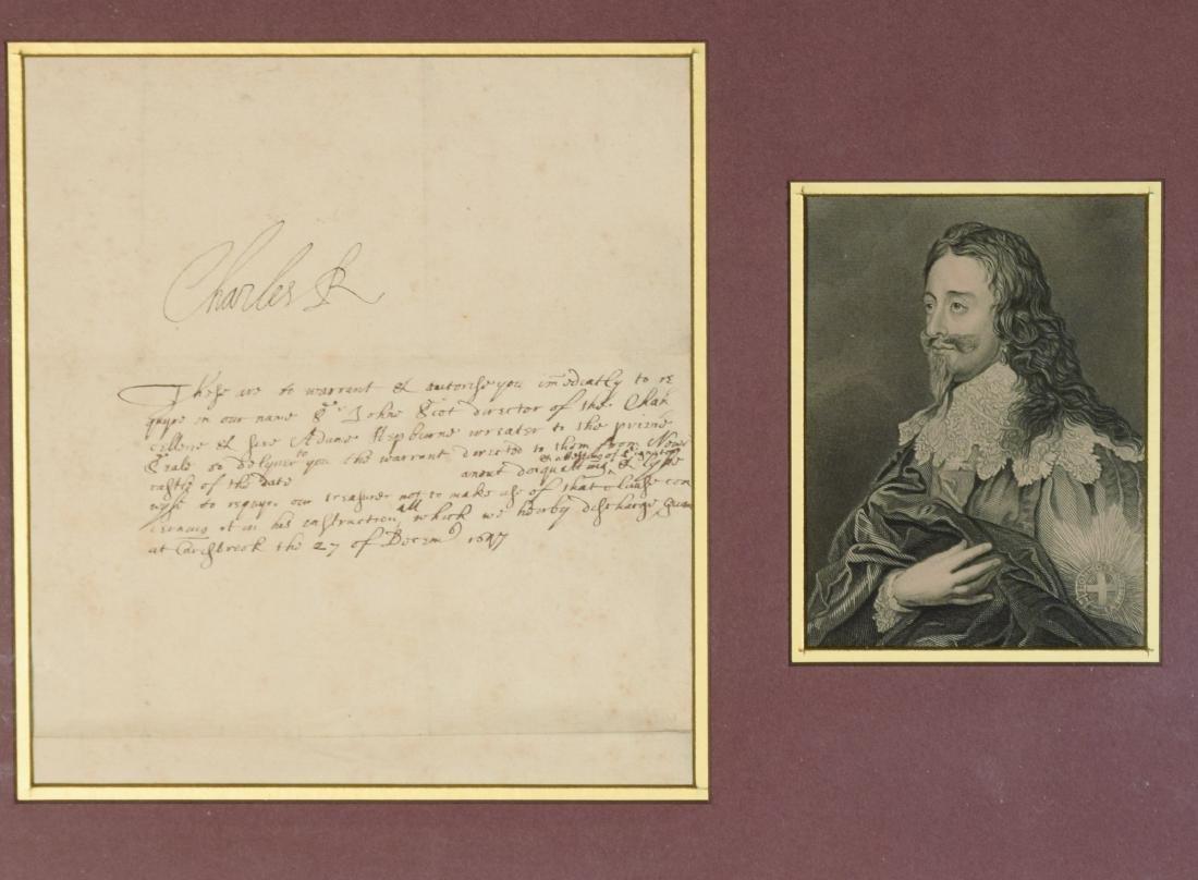 King Charles I (possibly a Warrant related to Sir John