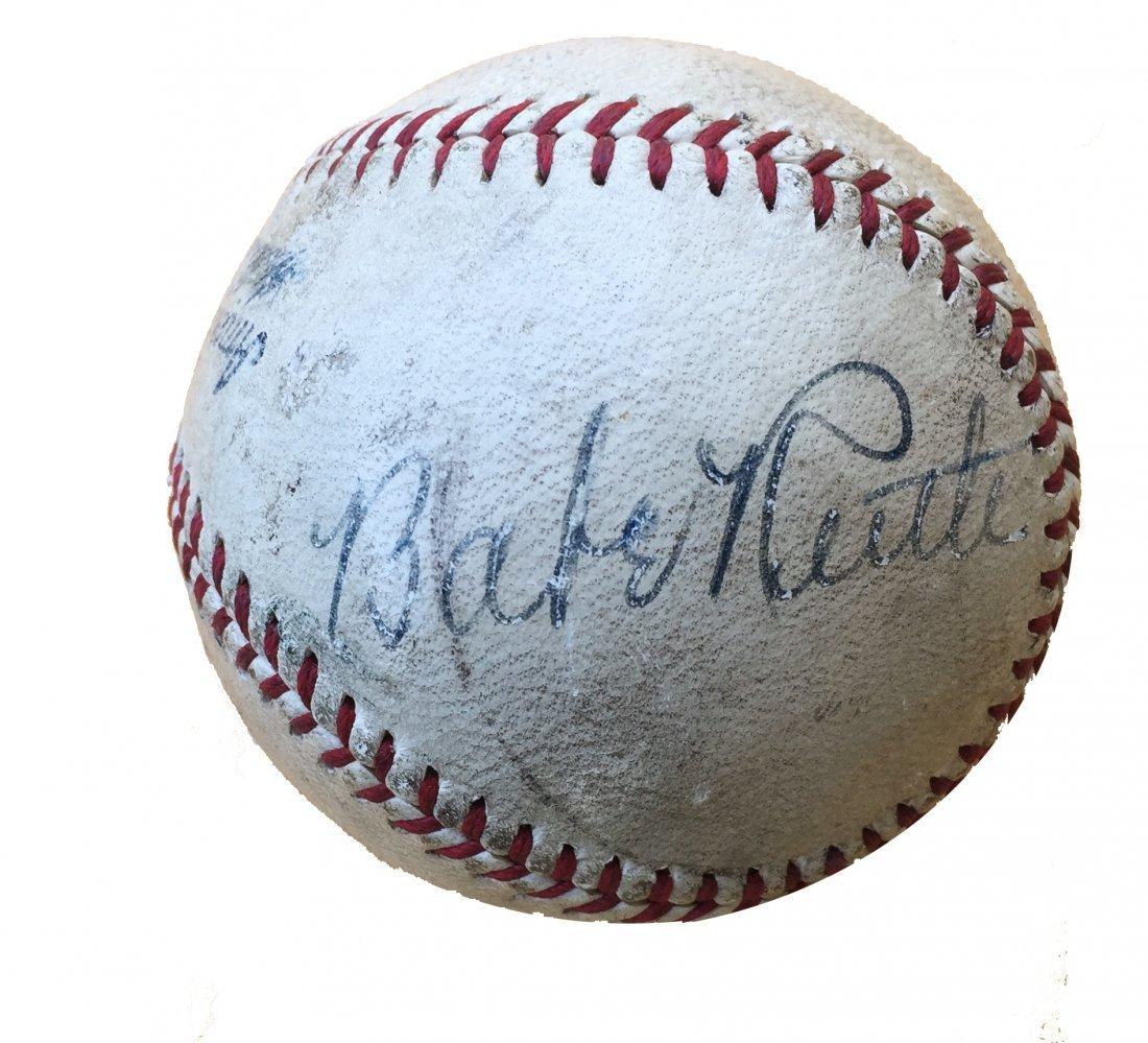 Babe Ruth Single Signed Base Ball