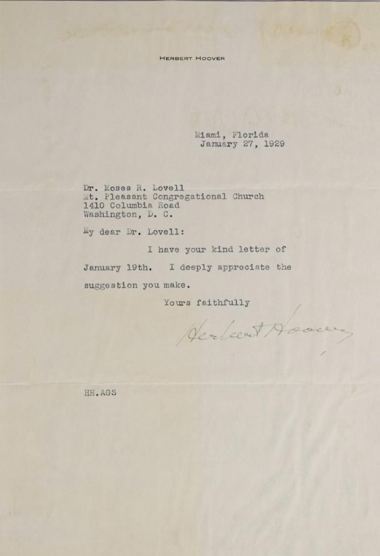 HERBERT HOOVER RECEIVES ADVICE AS AMERICA'S FIRST