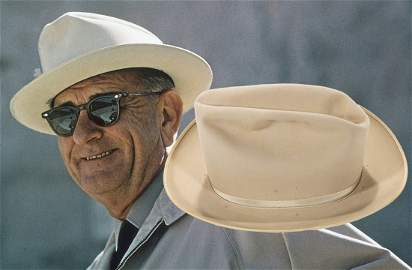 LYNDON B. JOHNSON Personally Owned & Worn STETSON HAT