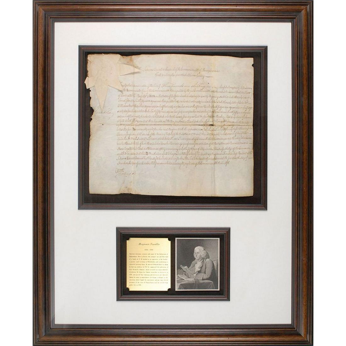 Benjamin Franklin Signed Document