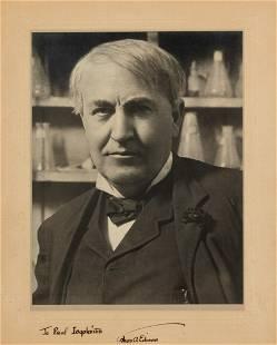 Thomas Edison Stunning Signed Portrait