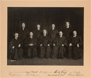 Vinson Supreme Court Signed Presentation Photo