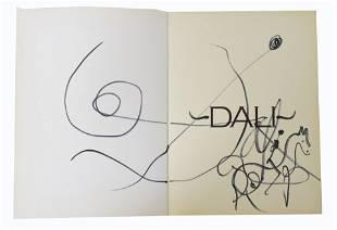 Salvador Dali Original Drawing in Book