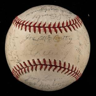 New York Yankees team signed baseball c.1937
