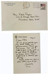 Rare Ronald Reagan ALS as president