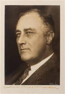 Roosevelt, Franklin D. Exceptional large format