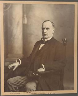 William McKinley Signed Oversize Photograph Incredible