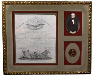 James K. Polk Signed Appointment