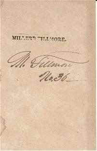Millard Fillmore Signed Front leaf form Book