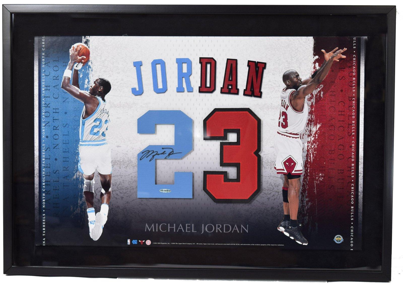 Michael Jordan Signed Upper Deck Display Piece