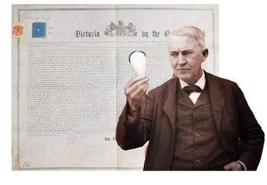 Edison's Original Patent for the Light Bulb and Archive