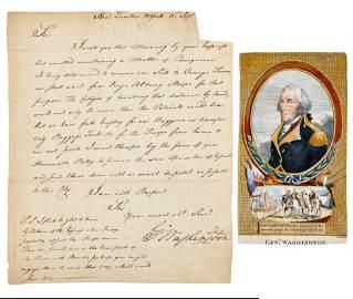 1776 Washington Letter Washington's Concern for his