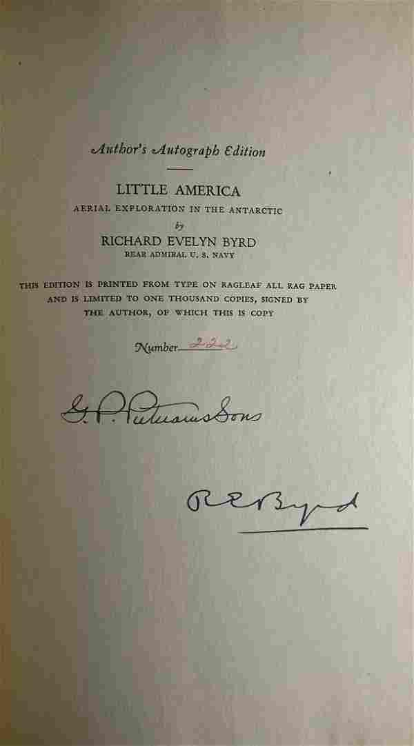Little America Signed By Richard E. Bird