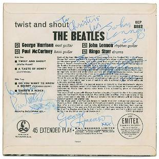 Rare Beatles Signed first UK pressing of the band's