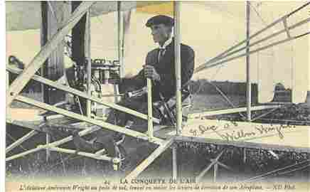 Wilbur Wright archive consisting of a Collotype