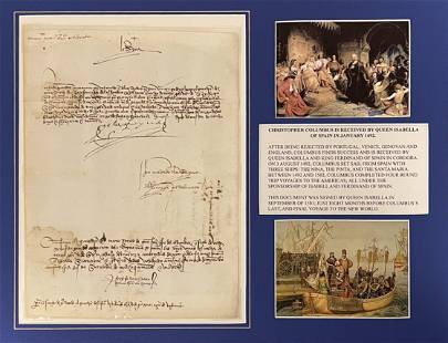 Queen Isabella Signed Document 8 months before