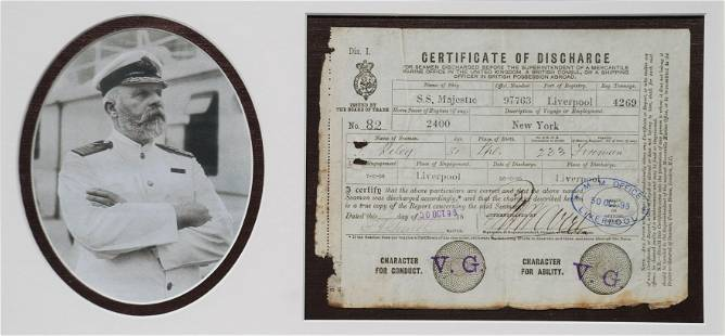 Rare Edward J. Smith DS (Commander of the RMS Titanic)