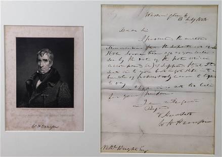 William Henry Harrison ALS