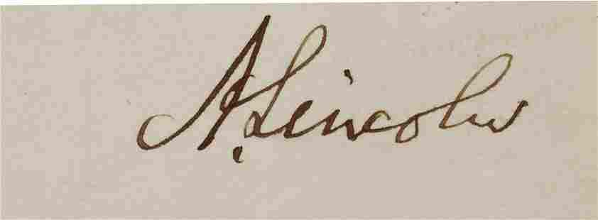 Abraham Lincoln Clipped Signature
