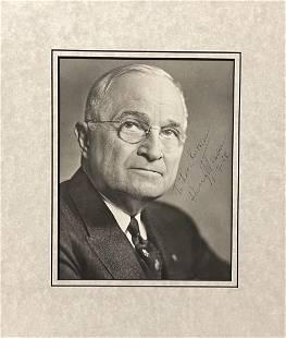 Harry Truman Signed Photo