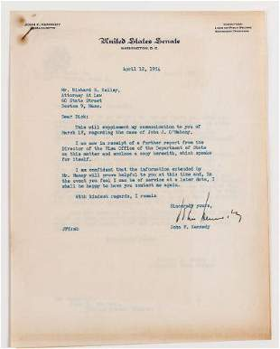 John F. Kennedy Helps with Immigration Case TLS