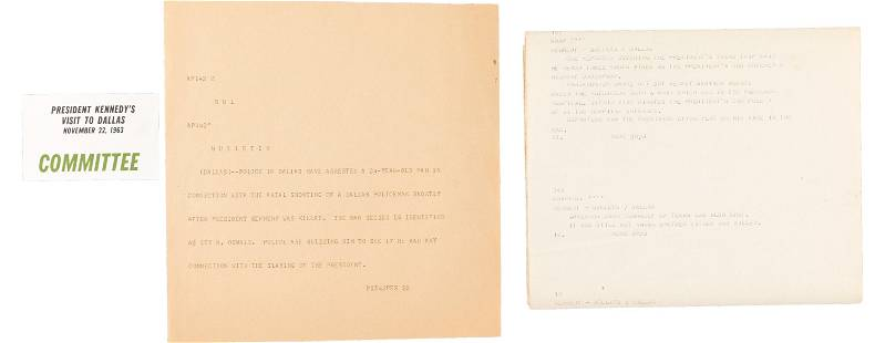 John F. Kennedy: Assassination Teletype and Committee