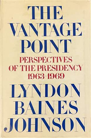 The Vantage Point Signed By Lyndon B. Johnson