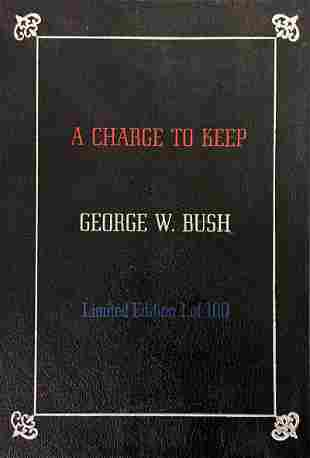 """Limited Edition George W. Bush """"A Charge To Keep"""""""