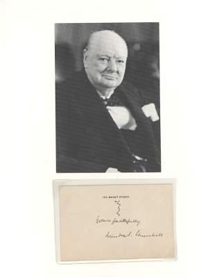 Winston Churchill Signed Card