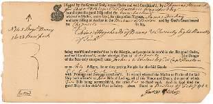 John Hancock - Scarce Hand Annotated 1762 Autographed