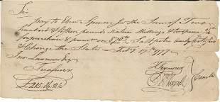Oliver Ellsworth Signed Document