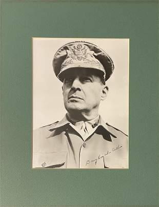 Douglas MacArthur Signed Photo