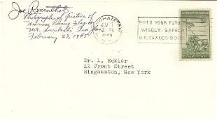 Joe Rosenthal Signed Envelope of Raising Flag stamp