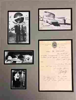 Harold Gatty 1931 letter
