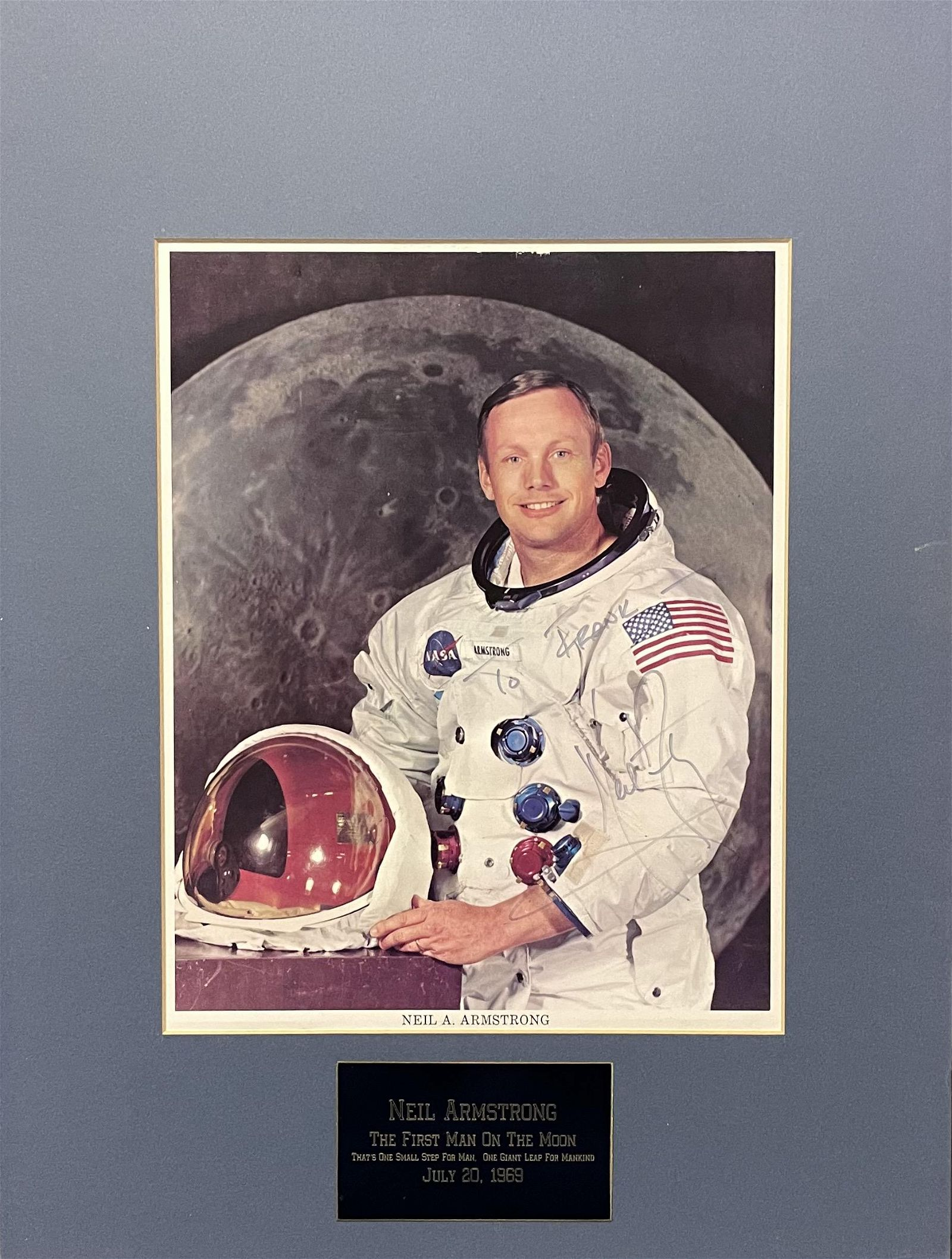 Neil Armstrong Signed Photo