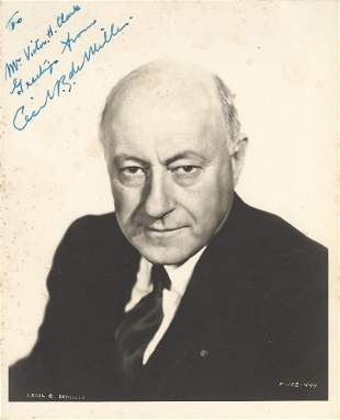 Cecil B. DeMille Signed Photo
