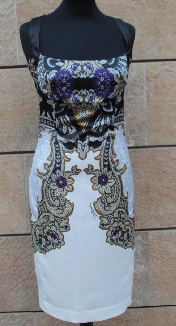 JUST CAVALLI?Robe sans manche en coton à décor floral